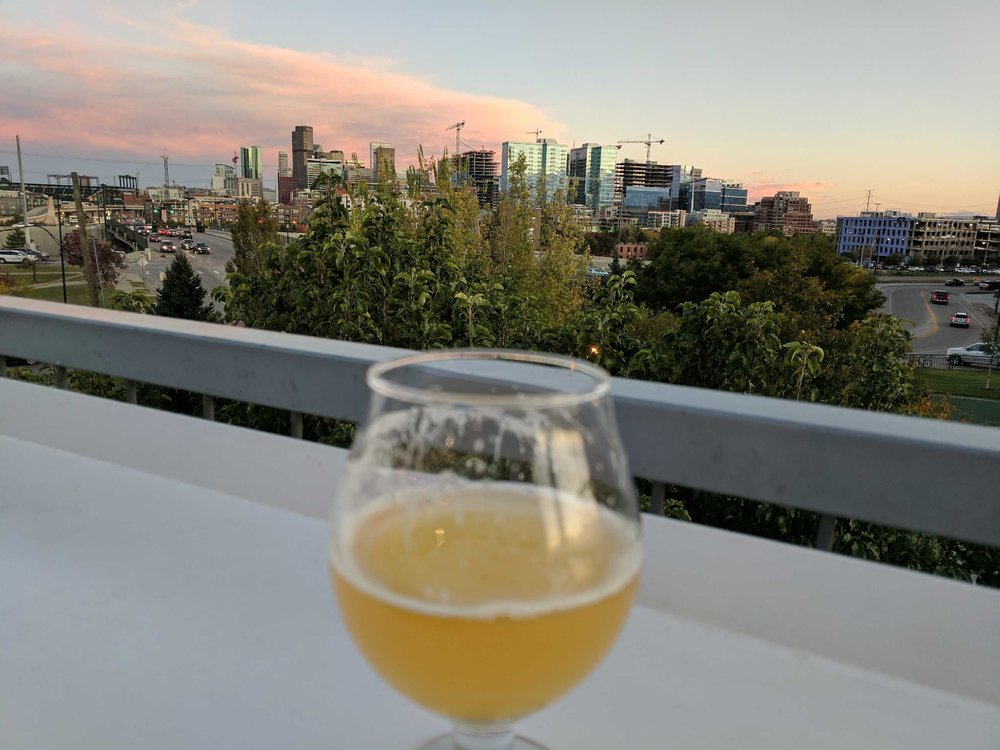 The view from the roof deck at Avanti Food and Beverage