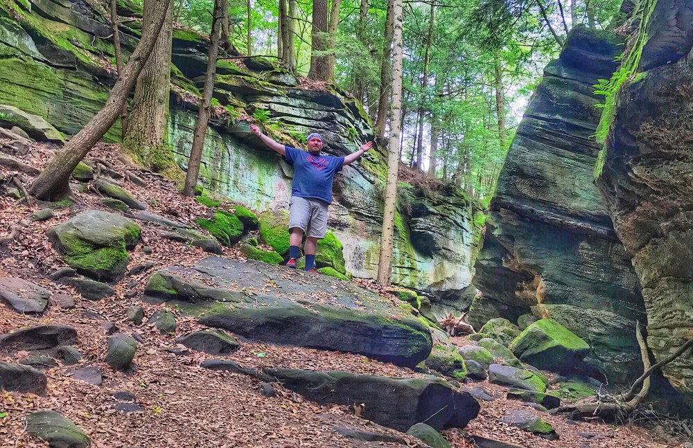 The Virginia Kendall Ledges in Cuyahoga Valley.