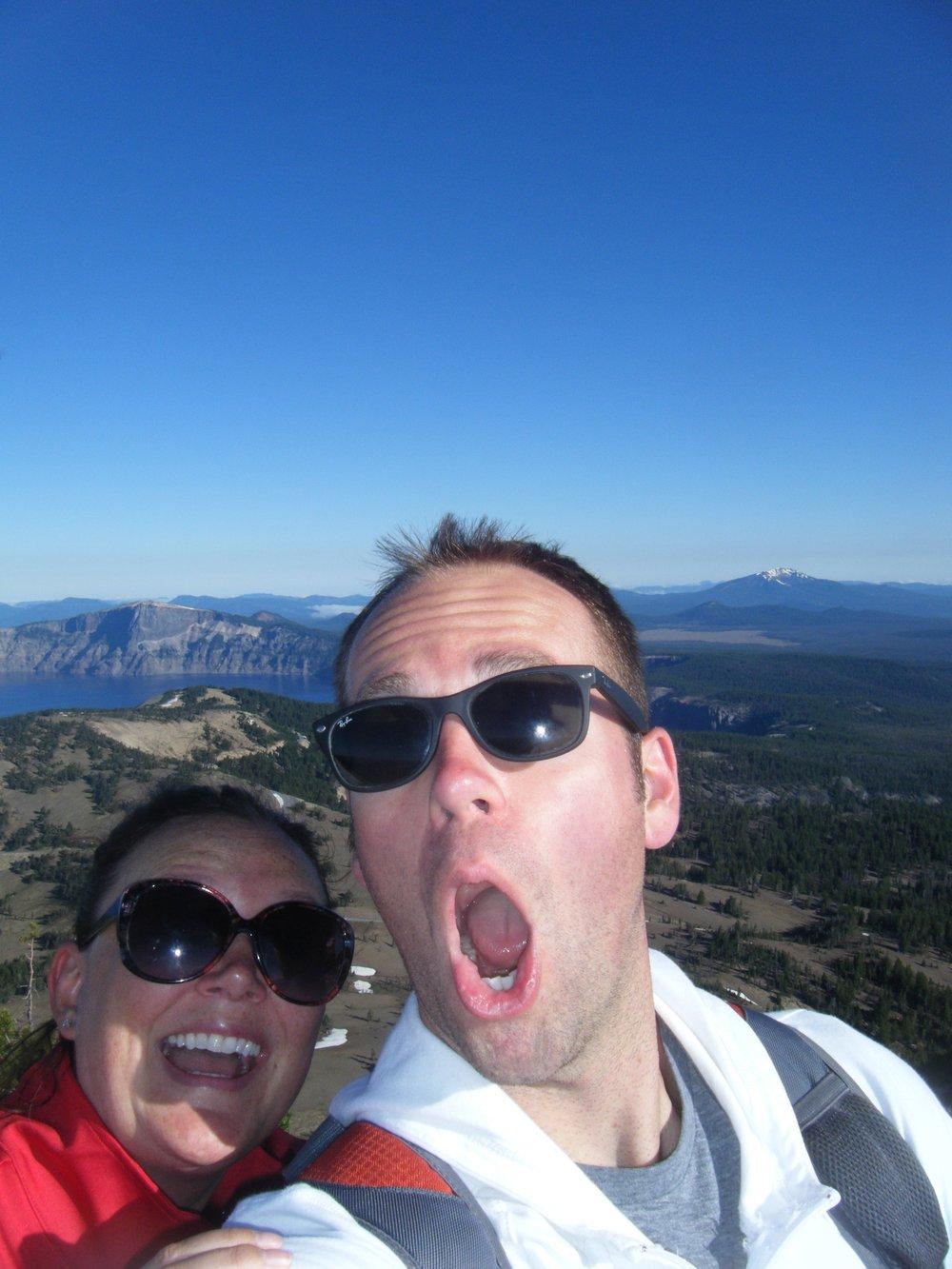 A little selfie at the top of Mt Scott!