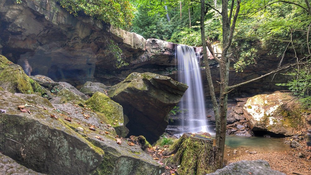 Cucumber Falls in Ohiopyle State Park, PA