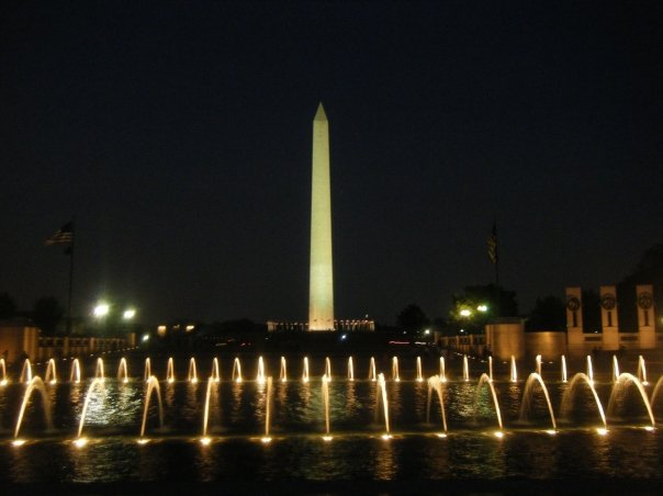 Unfortunately when I visited Dr King's Memorial it was dark out and this is the only picture that I have that came out really good, it's obviously a different memorial in DC!
