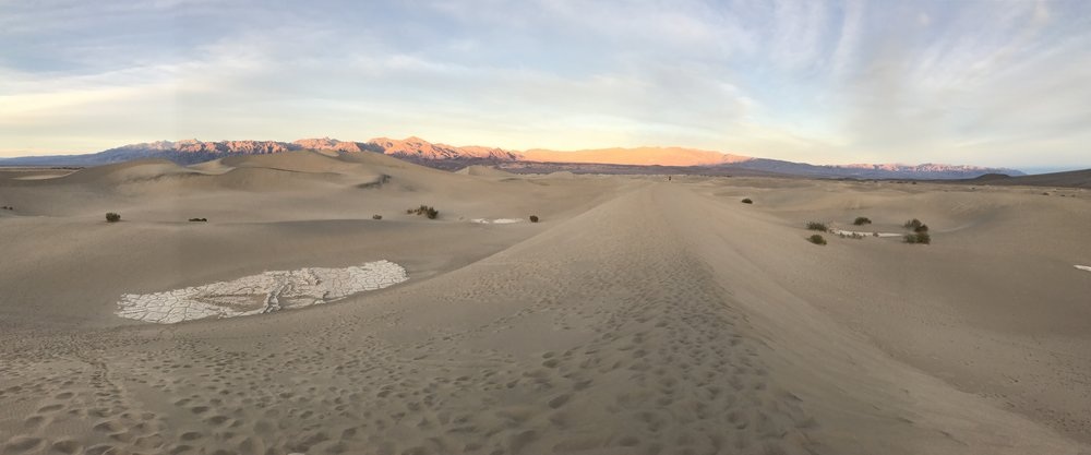 4. The Mesquite Sand Dunes.  There are other amazing dunes in the park but this is the one that doesn't require a 4x4 and an all day excursion.  A two mile hike gets you to the top of the highest dunes and it's a great spot for sunrise and sunset.