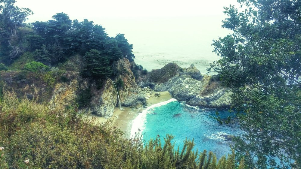 A little waterfall Wednesday for you.   McWay Falls in Big Sur.