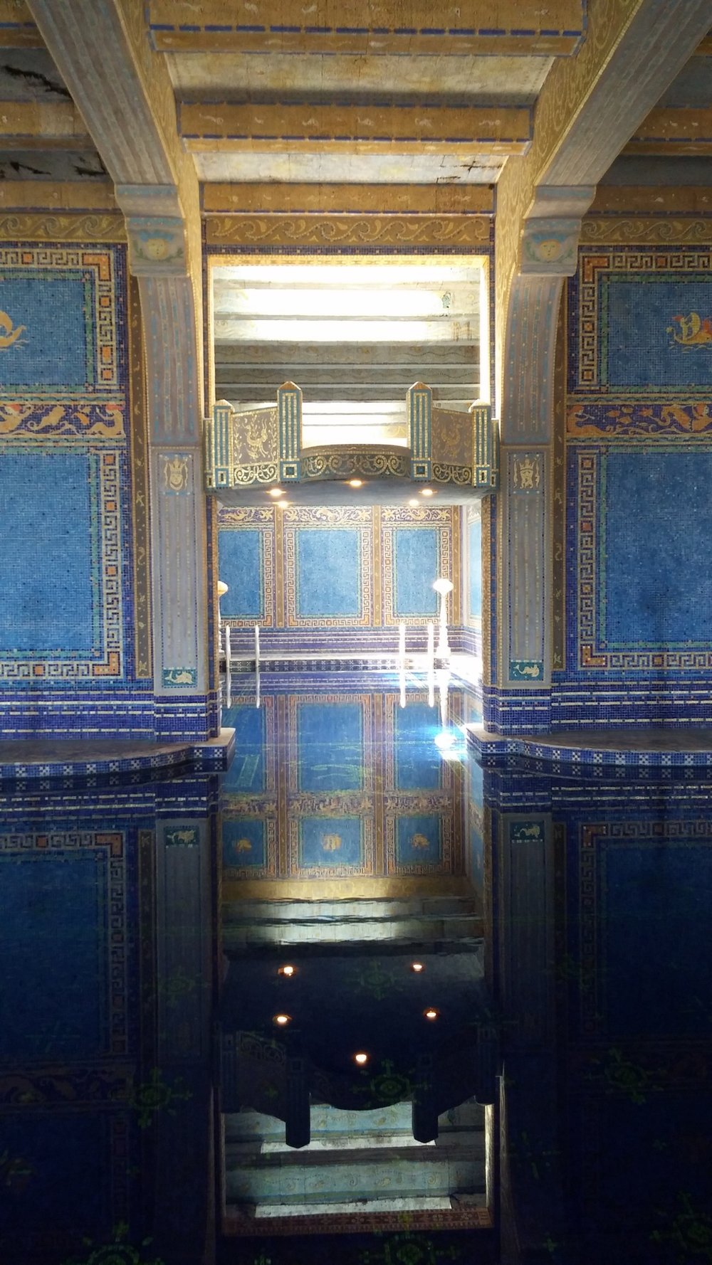 The Roman pool of  Hearst Castle.   Be still my heart.