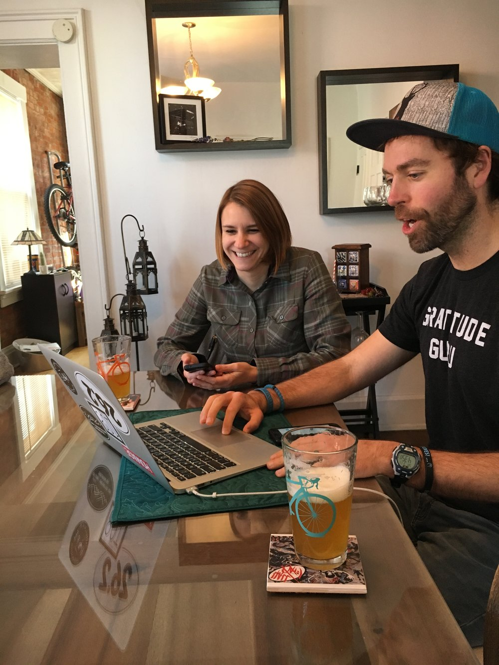 Laughter happens when you mix in craft beer, good people, and podcasting recordings!
