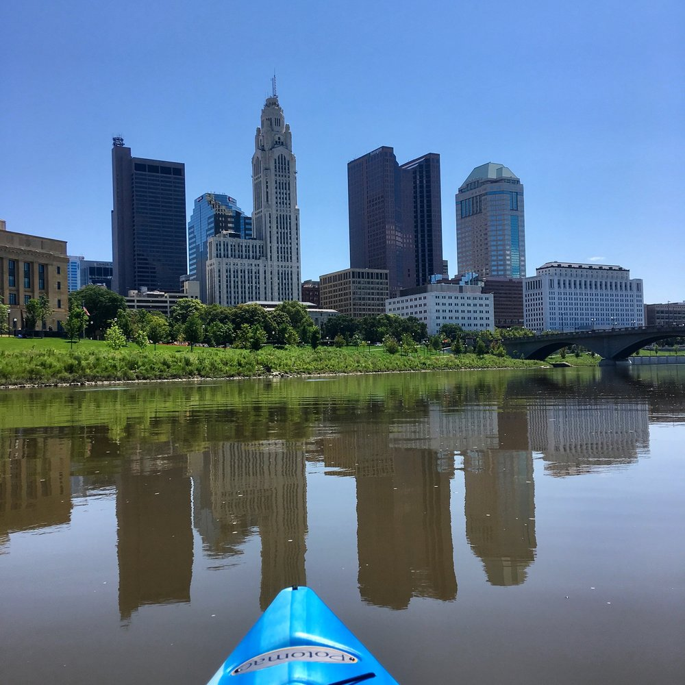 This could be you this summer with us at our kayaking, river clean up, and happy hours!
