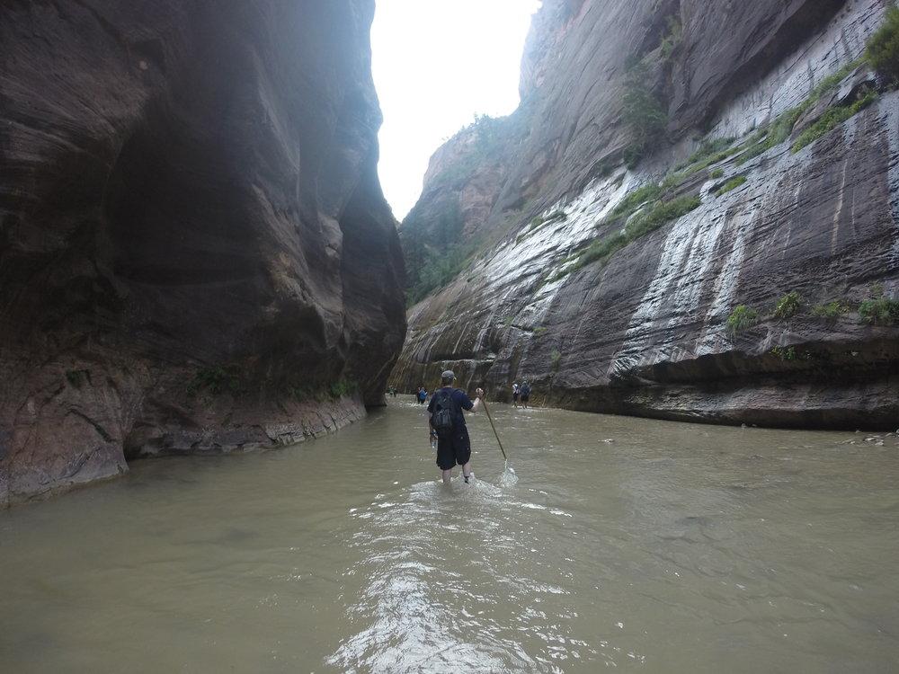 Hiking the Narrows.