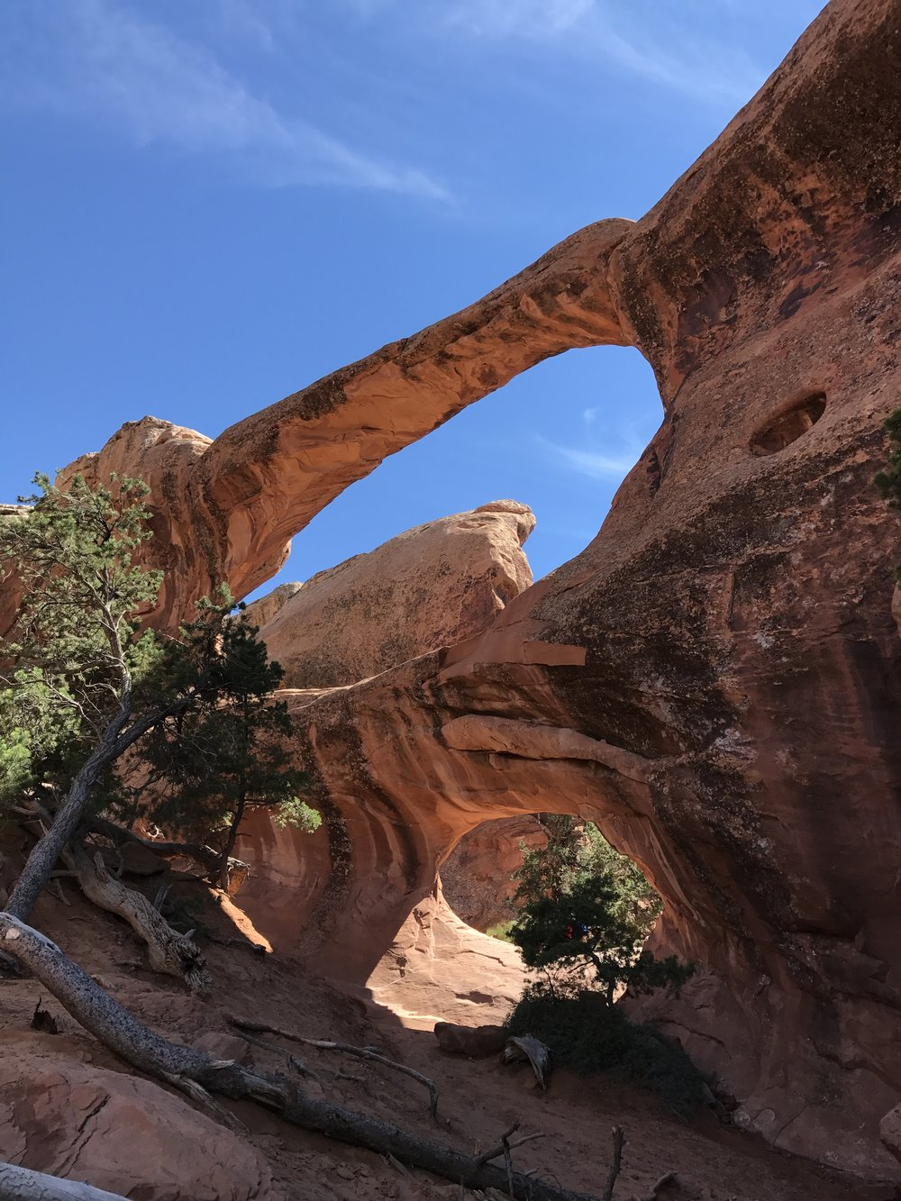 Double O Arch on the Devil's Garden Loop Trail.