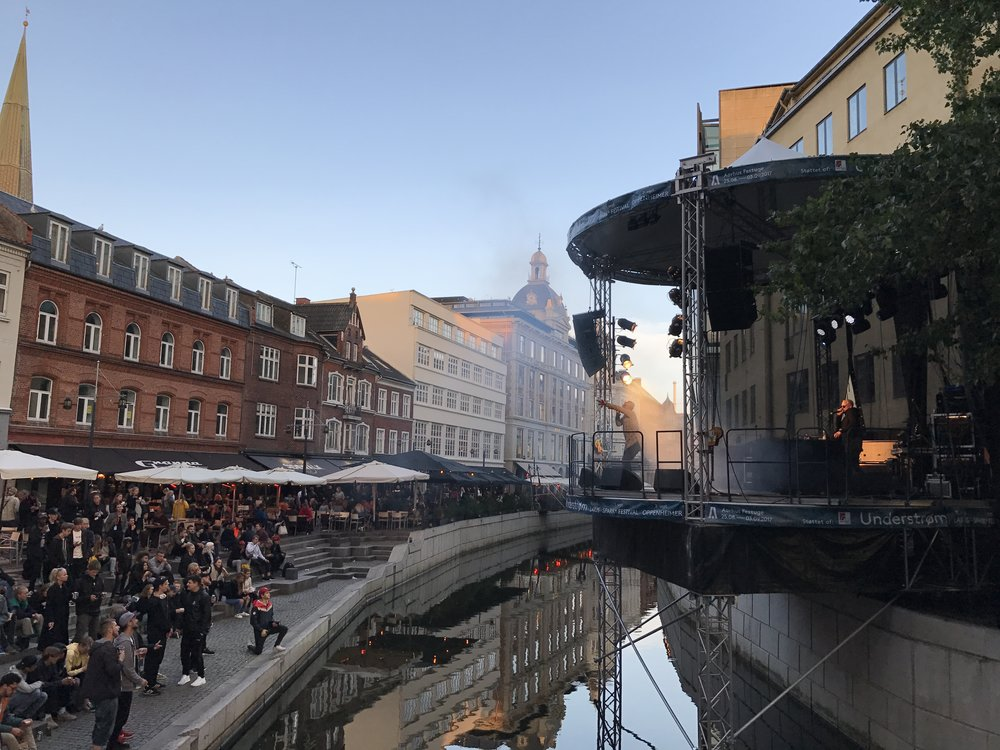 The next two days consisted of live music on the main boulevard along the Aarhus river: