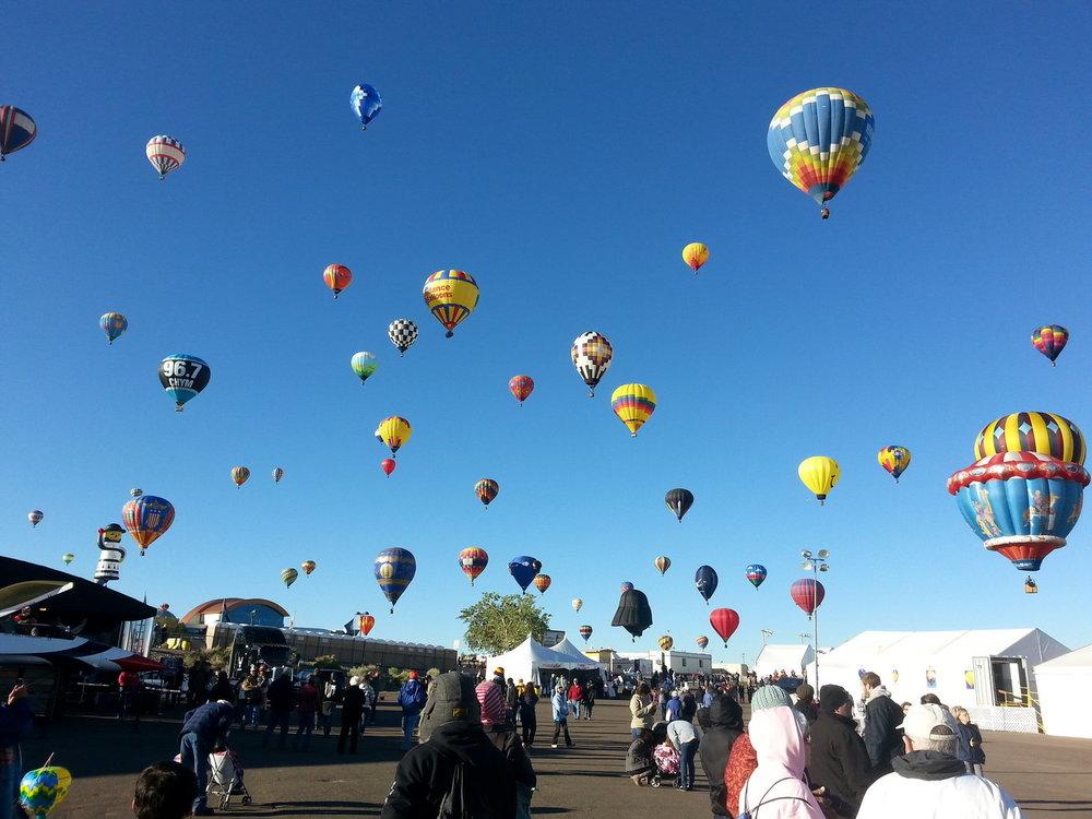 The famous Albuquerque Balloon Festival
