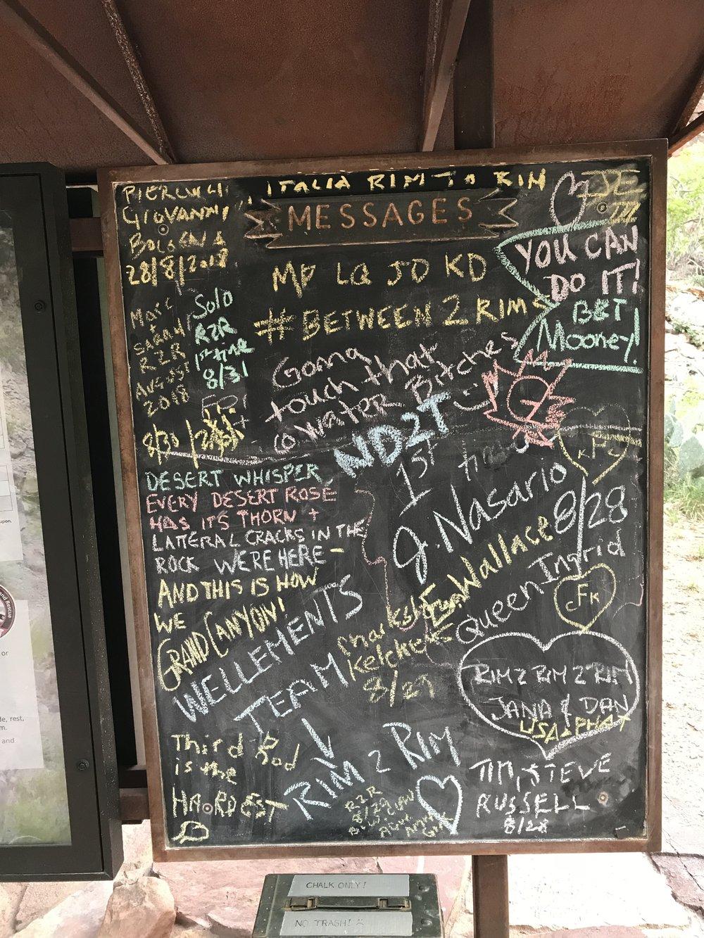 Messages of inspiration at Menzanita Spring.