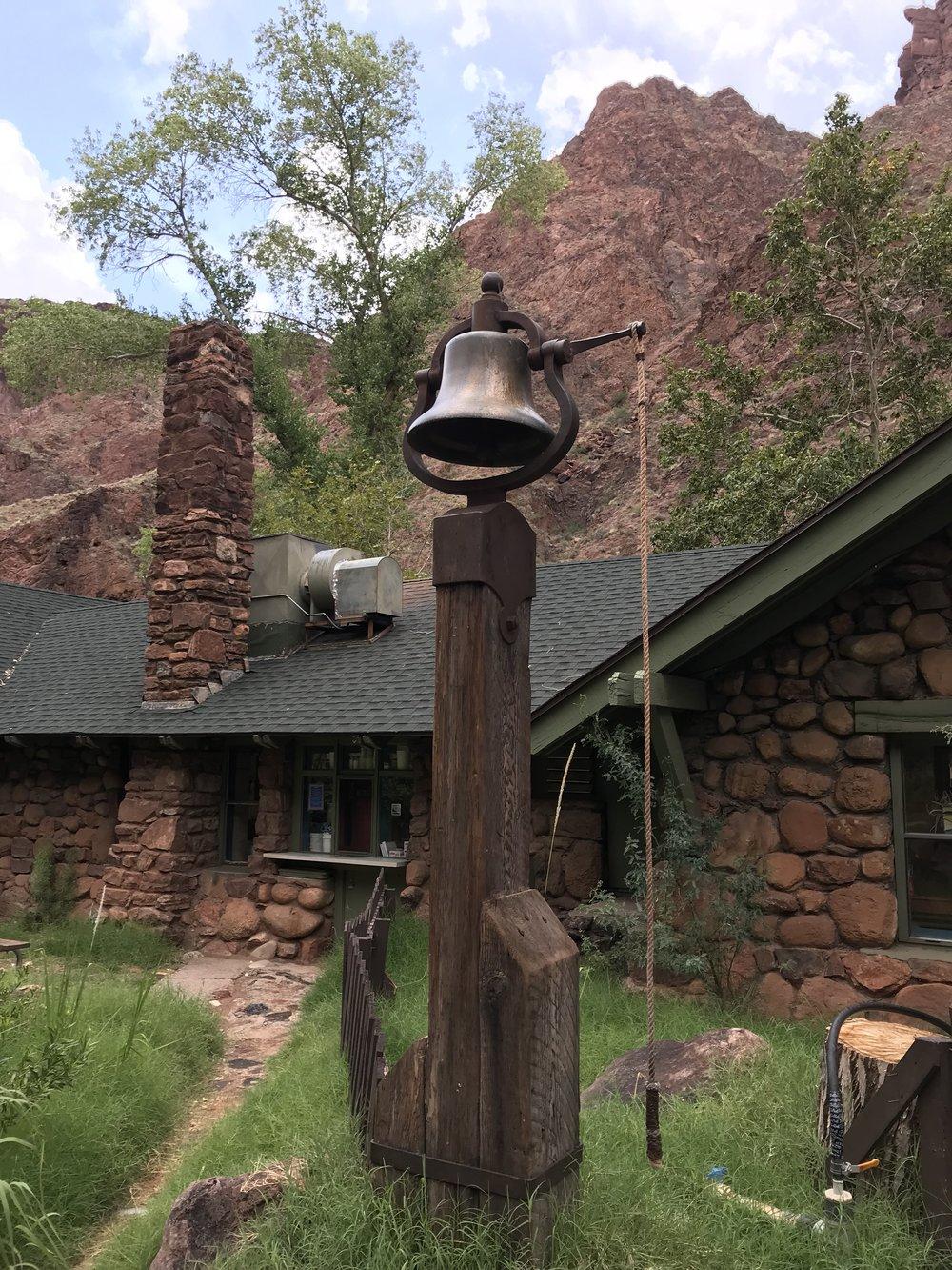 Dinner bell at Phantom Ranch!