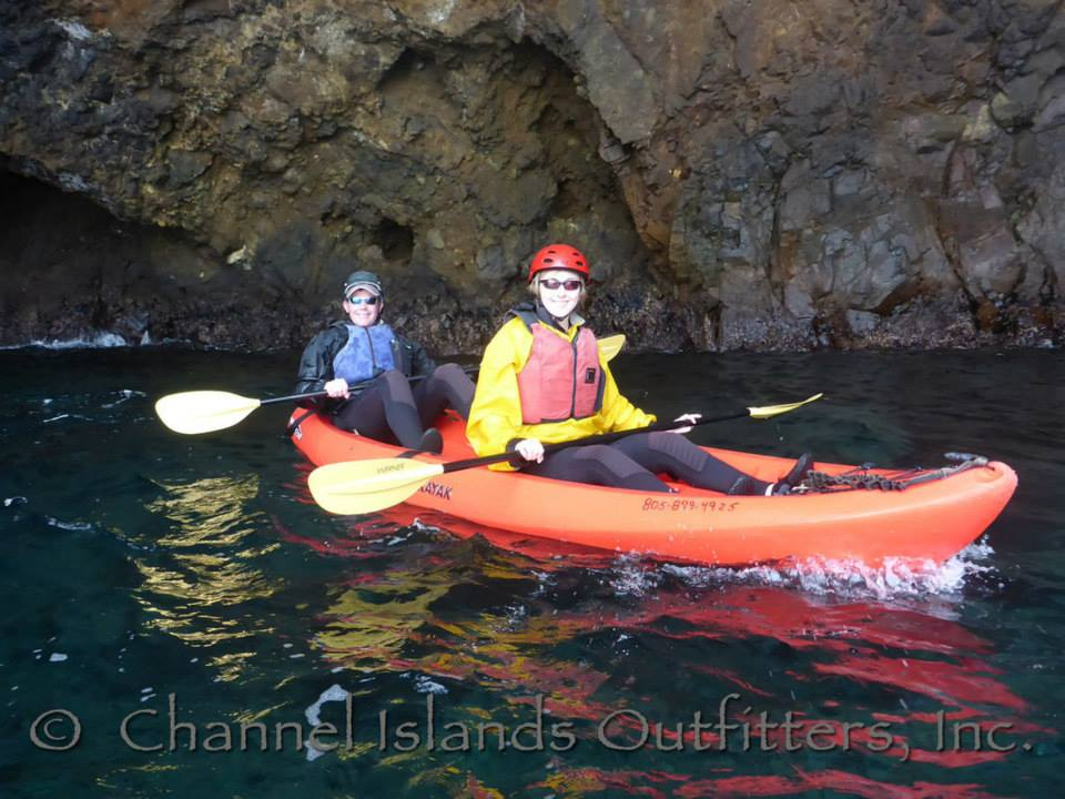 We went to Santa Cruz Island to experience the kayak tour in the beautiful sea caves at Scorpion Anchorage.