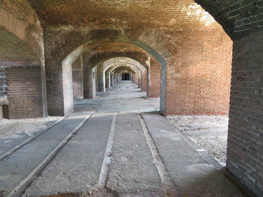 Inside Fort Jefferson.