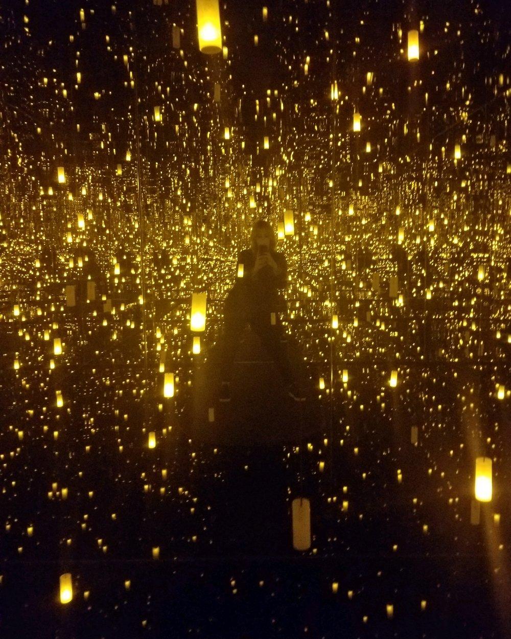 Jerz glowing in the Bellagio Gallery of Fine Art.