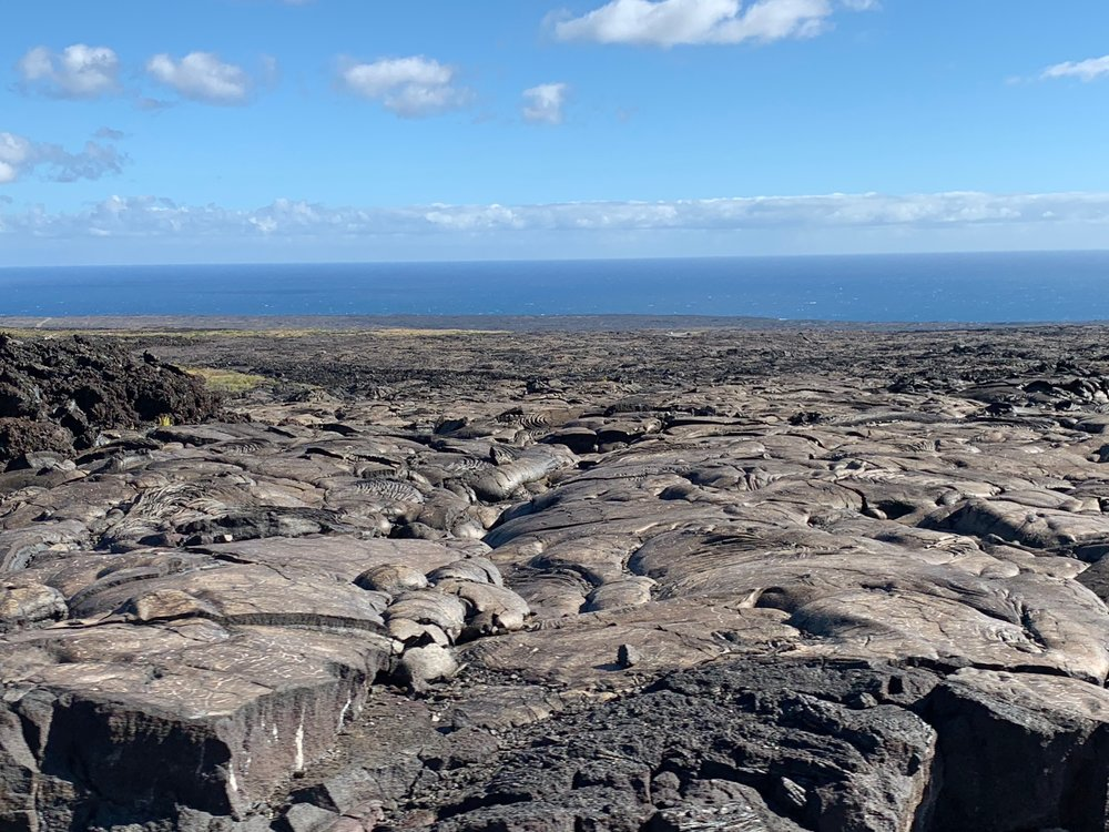 Lava fields for days! Suddenly, I was craving brownies!