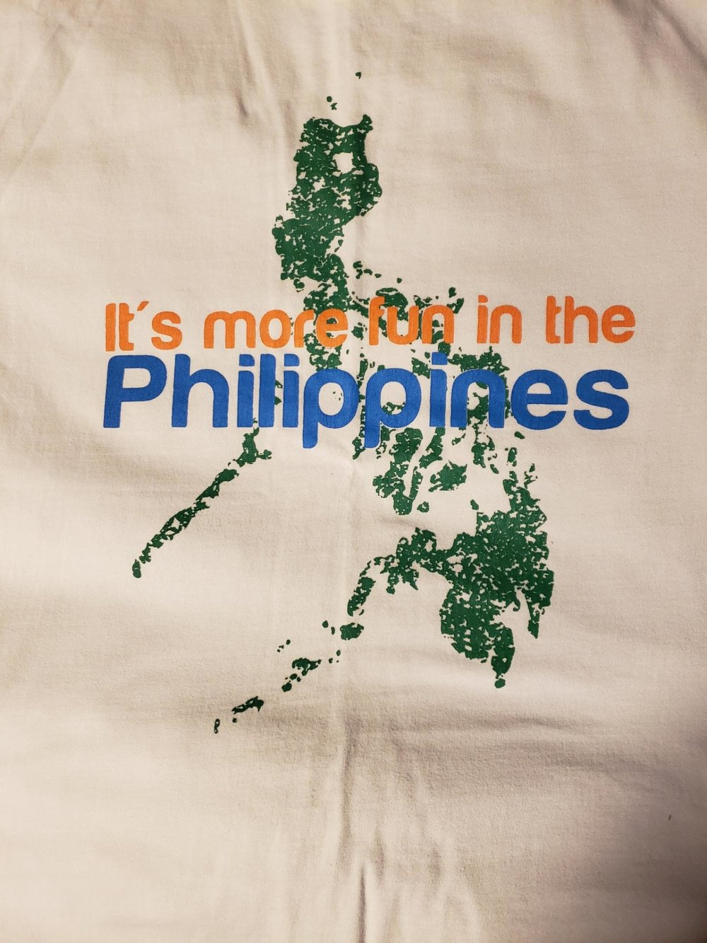 As promised from the podcast here is Jeff M's tee, true to the country tourism slogan!