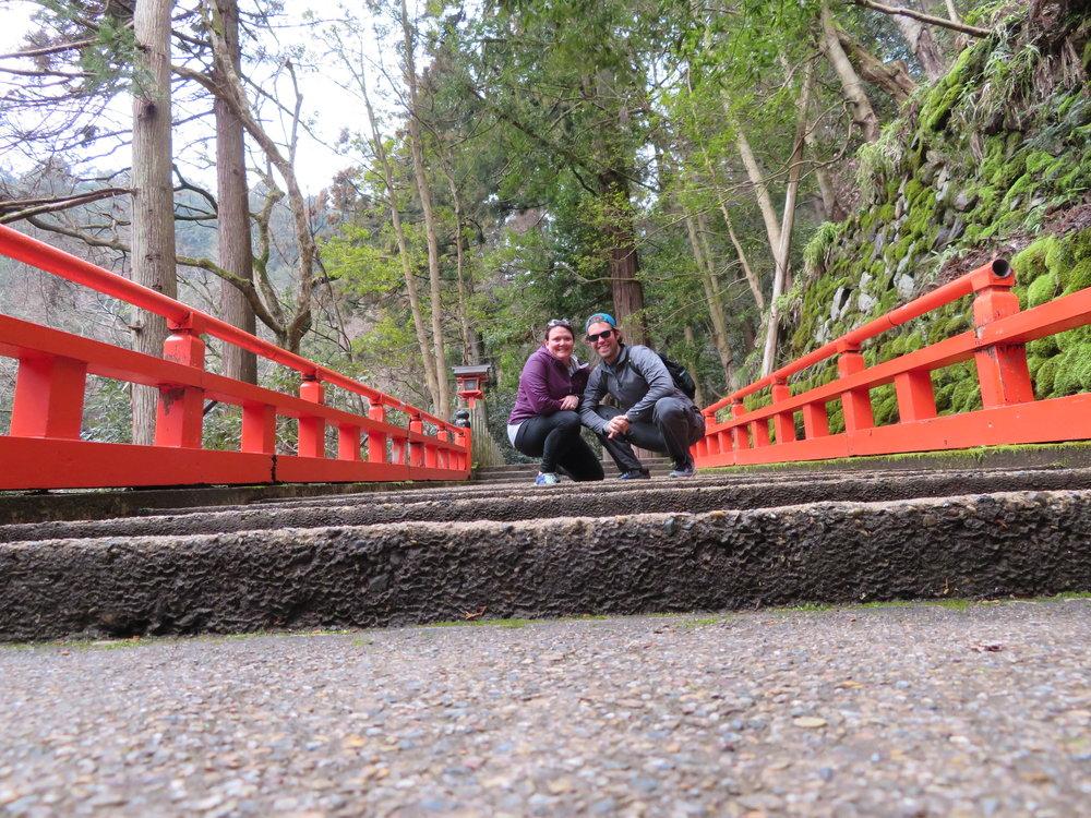 Heading up to the top of the Kurama-Dera Mountain Temple.