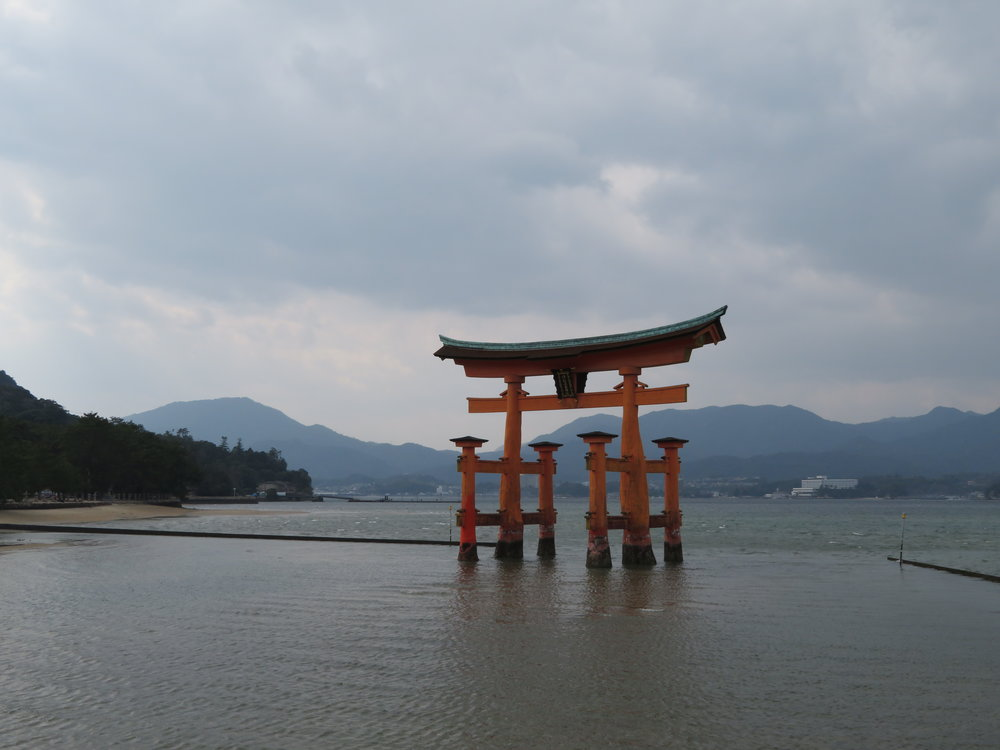 """The """"floating"""" Itsukushima Shrine."""