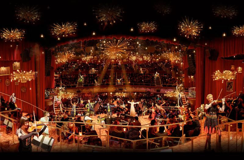 Set design for  The Great Comet  by Mimi Lien