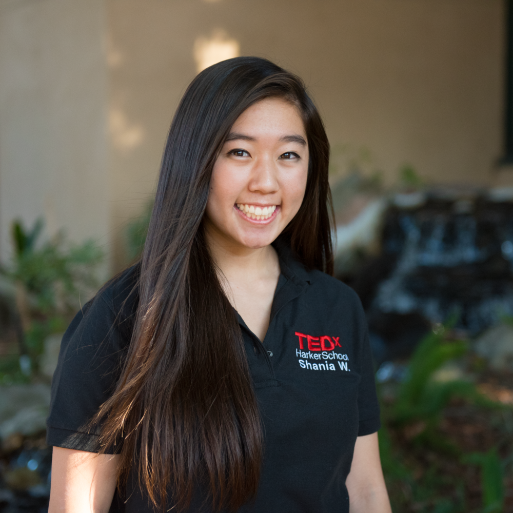 Shania Wang - Shania Wang is currently a junior at The Harker School in San Jose and the Marketing Associate for TEDxHarkerSchool. Outgoing and friendly, she enjoys meeting new people. Aside from TEDx, other positions she holds include DECA VP of Public Relations, Student Council Treasurer, and WiSTEM Publicity Officer. Shania is also a team manager for varsity basketball and a member of National Honor Society. Outside of school, she enjoys STEM research and discovering new music and places to eat.