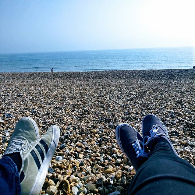 How glorious is the sun today?! We had a lovely walk along the sea front and had some chips on the beach today. Such a wonderful afternoon. We had to pop home and change out of our jeans though, summer is coming! ☀️ Is the sun out where you are today? What have you been up to? Let me know!