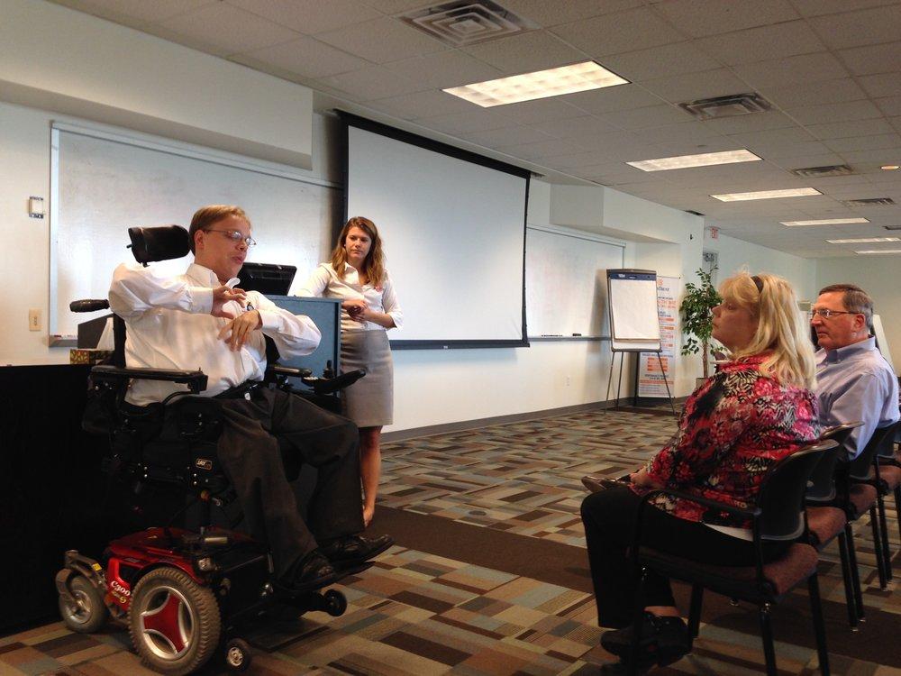 Matthew Shapiro presenting to a group.