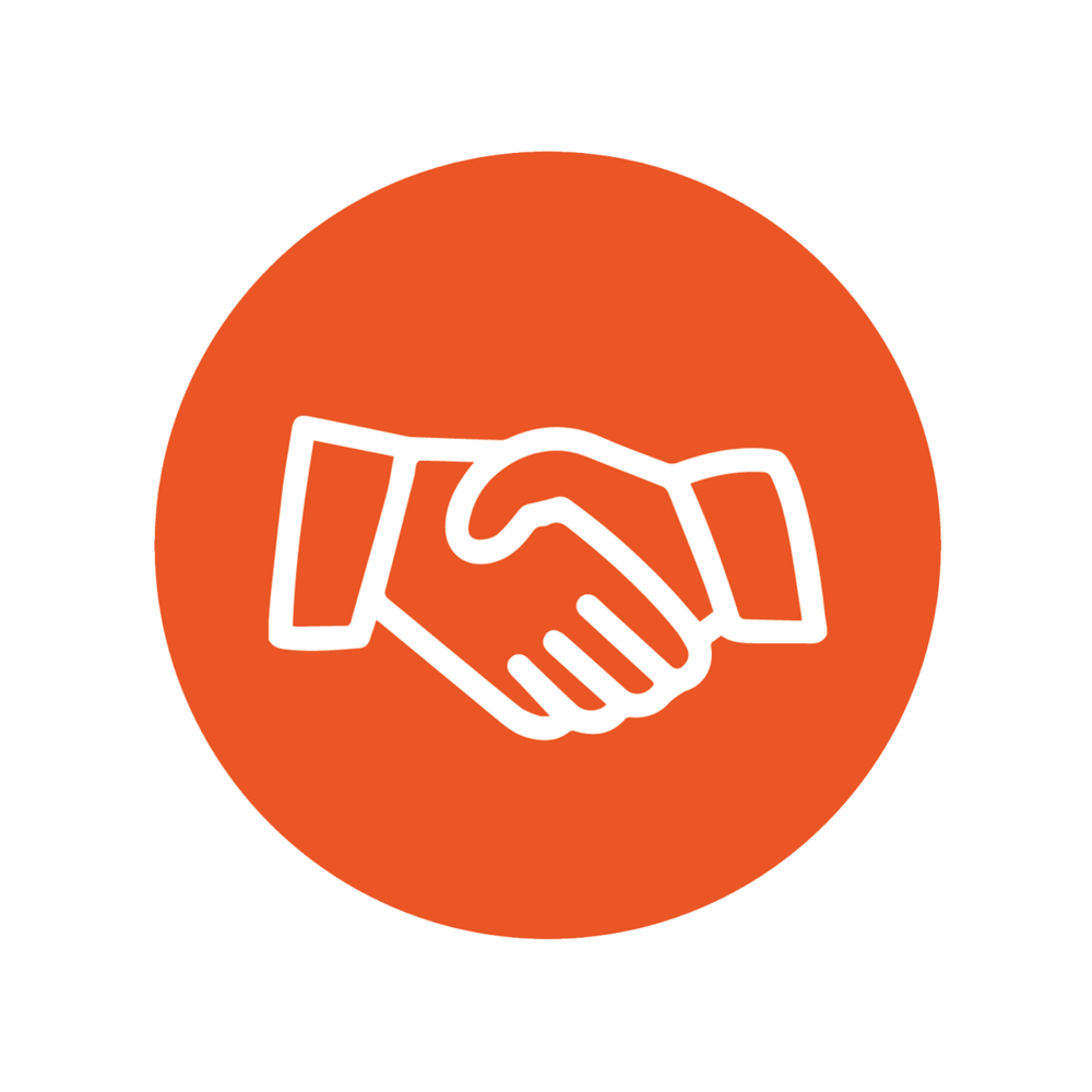 Handshake icon representing lobbying services.