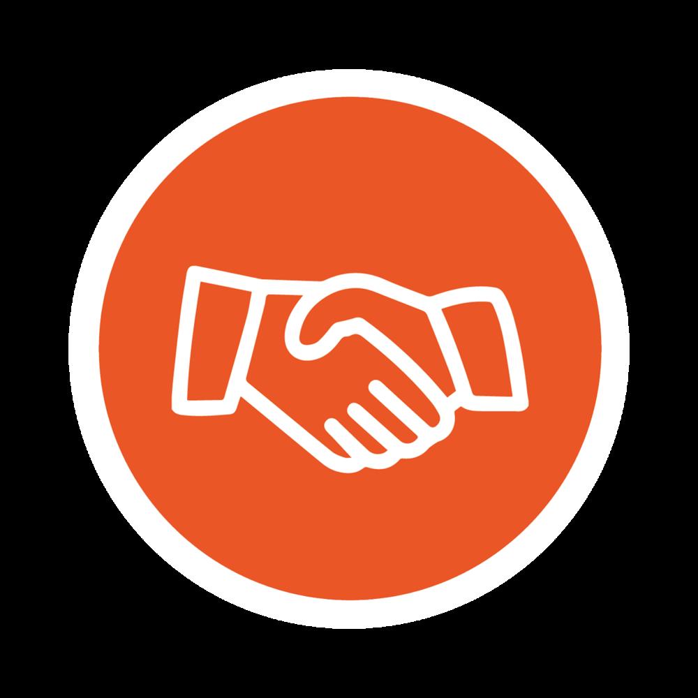 Handshake graphic