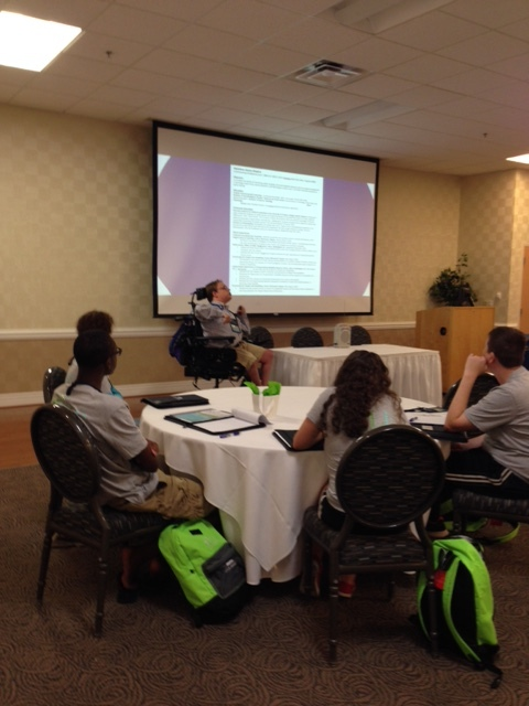 PHOTO: Matthew Presenting On professional development at this years Virginia Youth Leadership Forum