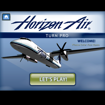 "HORIZON AIR TURN PRO  - After the success with the original ""Turn Pro,"" a subsequent game was commissioned, this time also including financial and business metrics to expand the topics covered in training."
