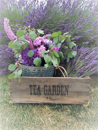 Vintage wood tea crate
