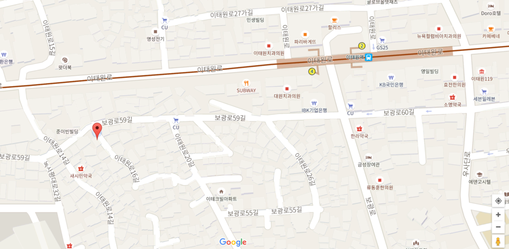 Location/ 장소: COFFEEGRAPHY Studio Cafe ( 용산구 이태원동 63-1  Smack in the middle of the trendy Quy Non district of Itaewon. 요즘 인기 있는 이탸원 퀴논 길에서 진행합니다.