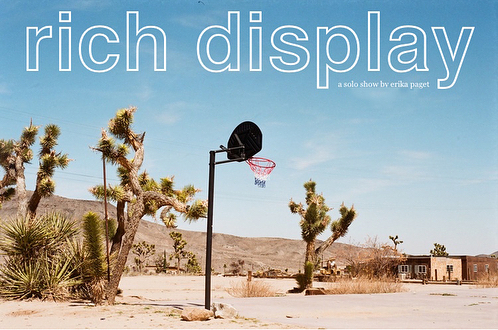 "Join us this Friday night for RICH DISPLAY, a @spacekelly solo photography exhibition! Come enjoy a different reflection of the California landscape — ""from the smog-sunk, palm-lined LA streets to the feral, spiky softness of the deserts and every deep breath in between. Opening reception Friday 3/30 from 7-10pm. 1499 E. 4th Street #103, Los Angeles 90033."