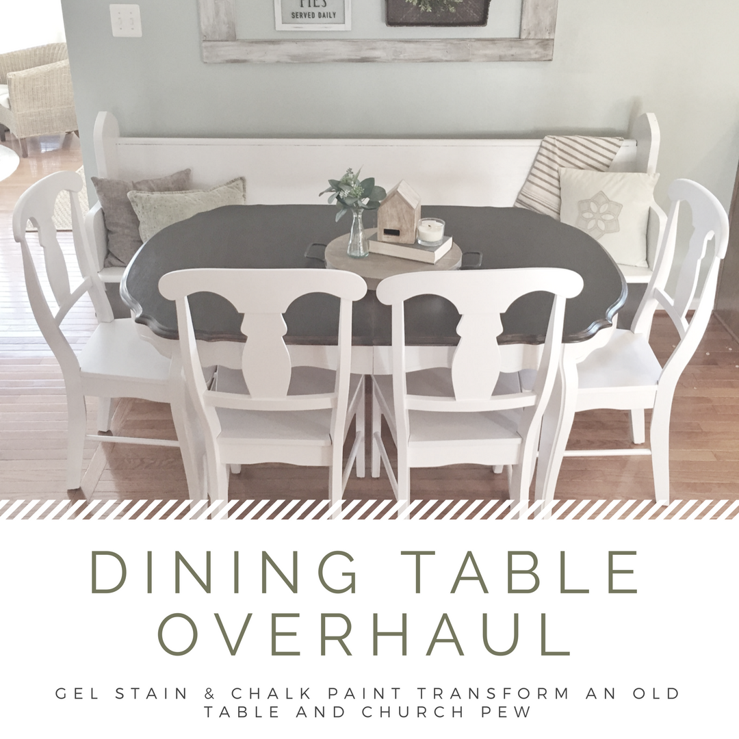 Dining Table Overhaul: Chalk Paint And Gel Stain Refinishing Project U2014  Minimalish Farmhouse