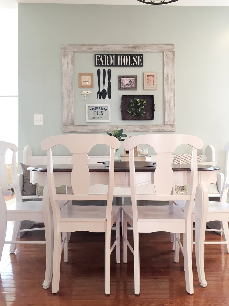 dining table overhaul: chalk paint and gel stain refinishing project