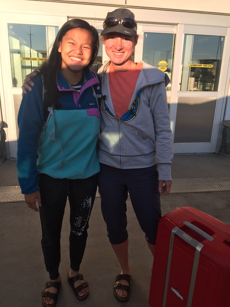 International connections: Missing Oda, our Norwegian exchange student, as she leaves the Anchorage International Airport to head back home to Norway. Sending love!
