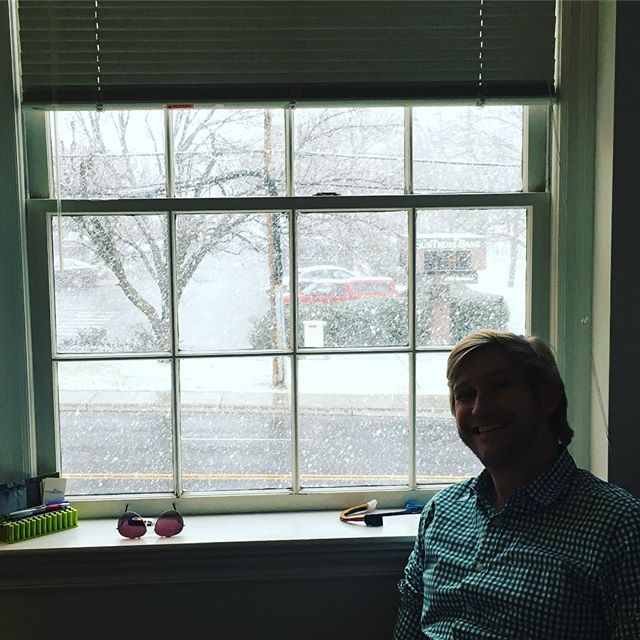 Major flurries in the Fairfax office after some very warm weather! #fromseventytosnowing