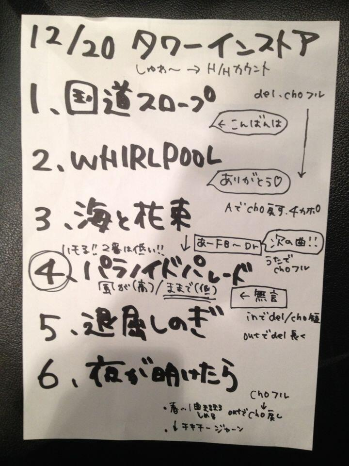 kinoko set list