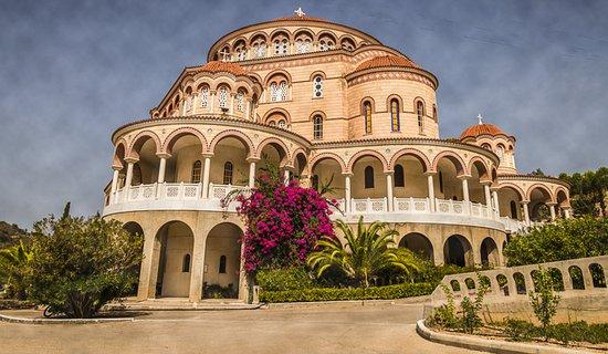 The Church of St. Nectarios, Aigina, Greece