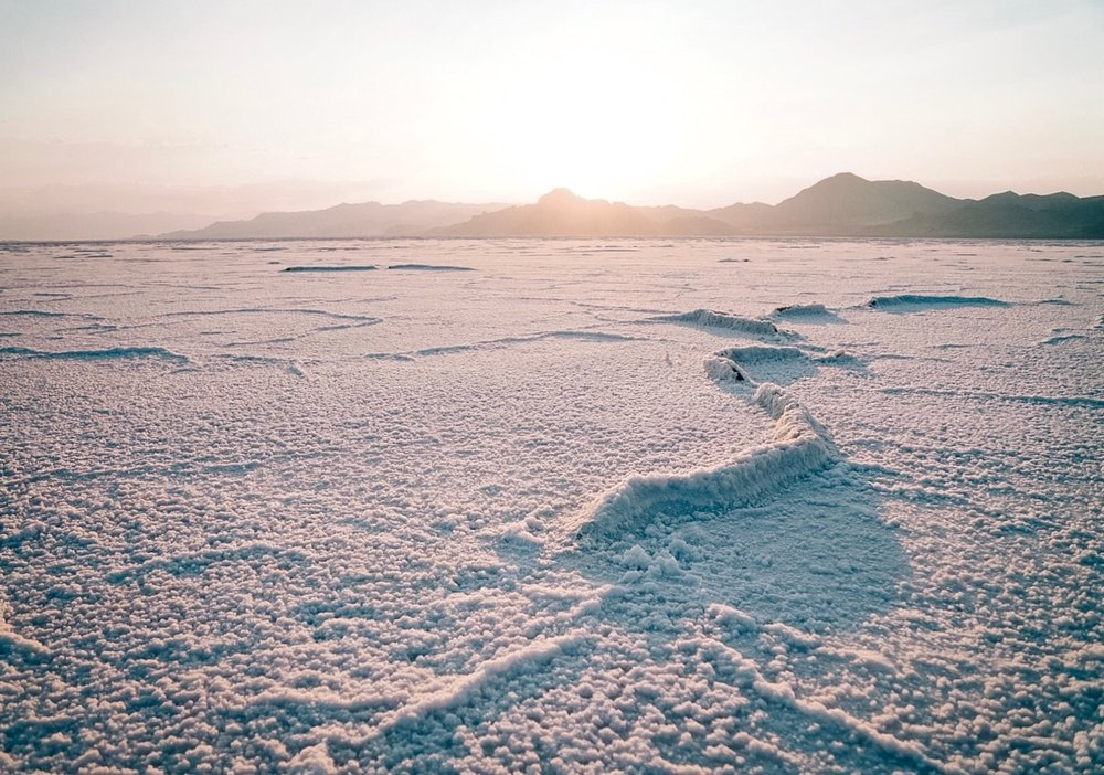 Another Planet or the Bonneville Salt Flats?| Edward Arthur Dalton