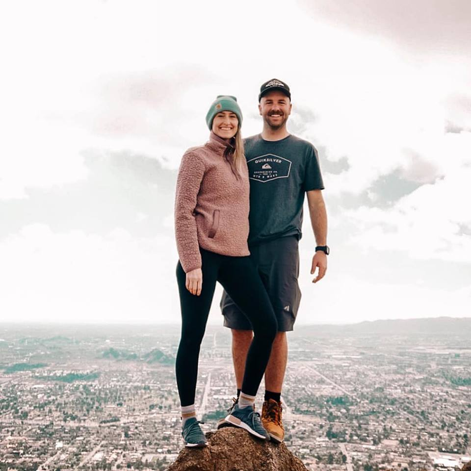 """Camelback Mountain Summit overlooking the """" Valley of the Sun"""".  
