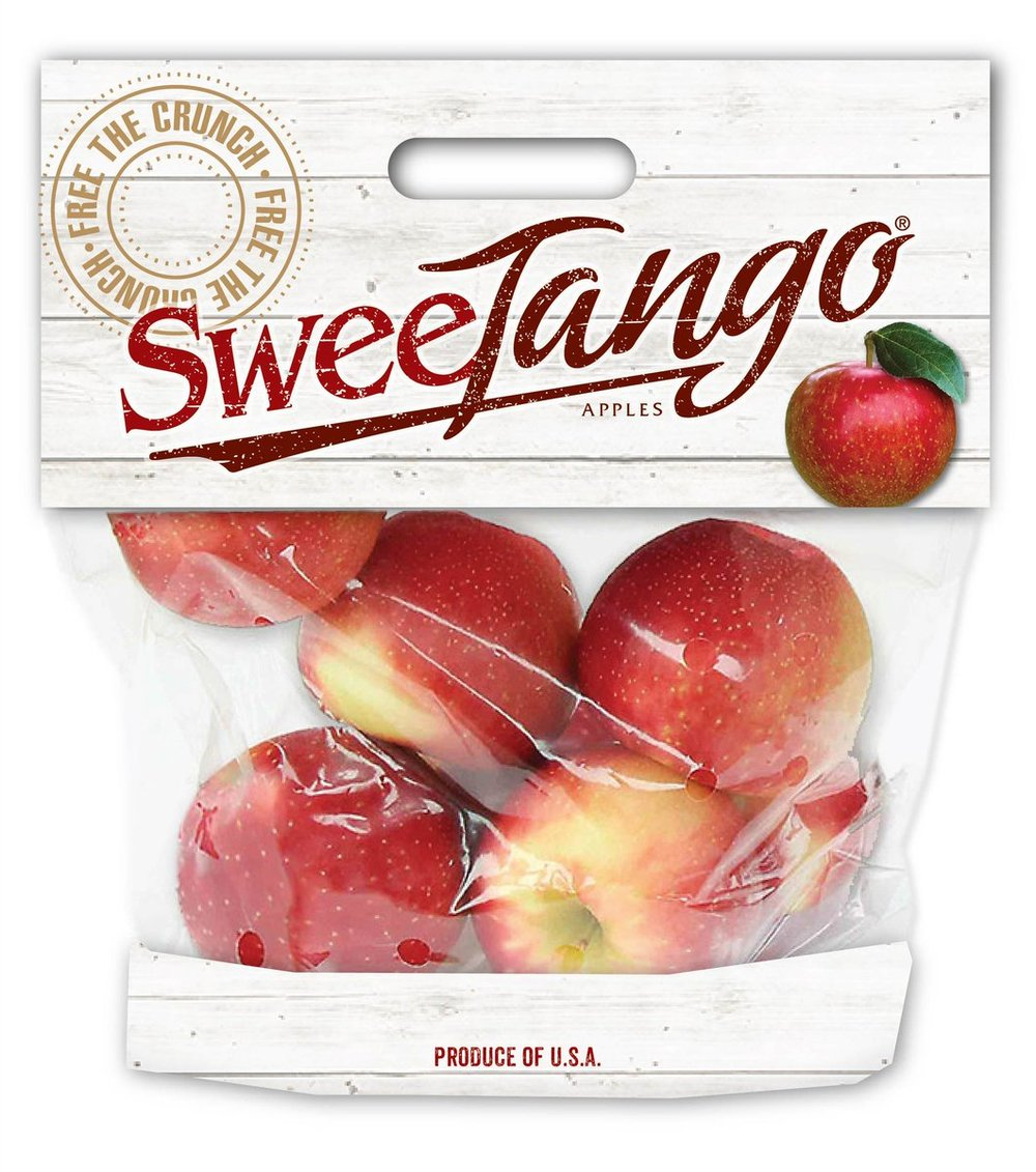 Bags of Sweet Tango, Pacific Rose, Daisy Girl apples: $4.99/ea -