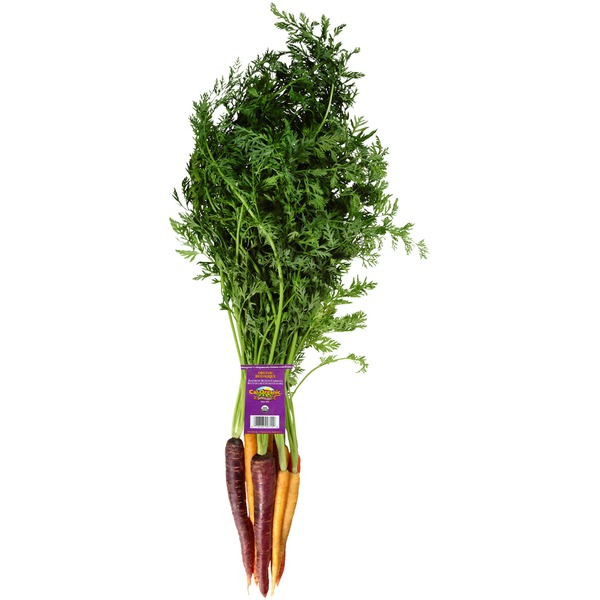 ORGANIC Rainbow carrots $2.39/bunch - Locally grown!