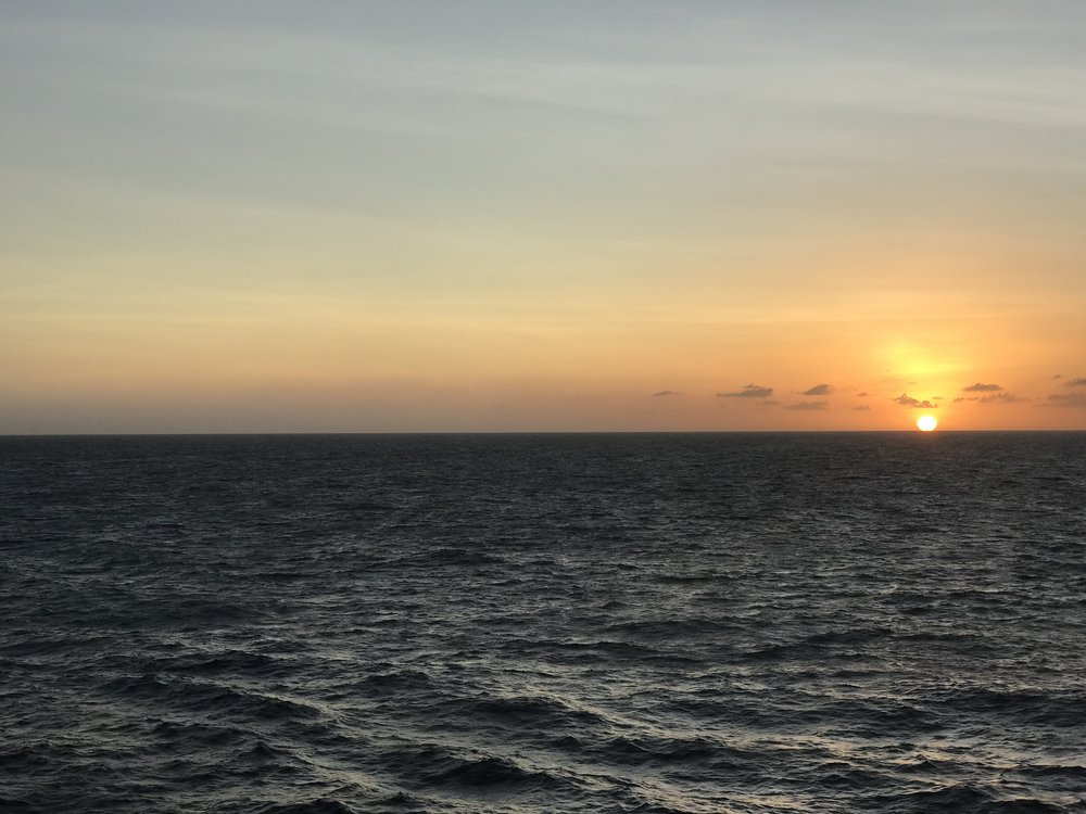 Sunset at sea...