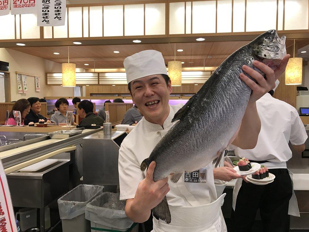 Fresh sushi!