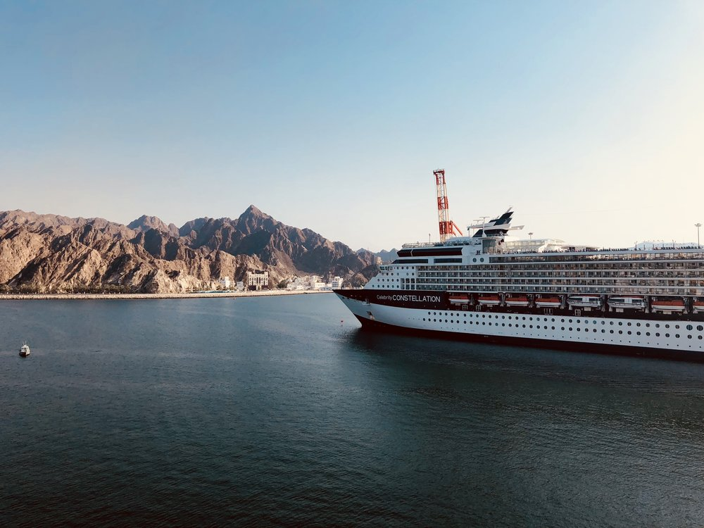 The Celebrity Constellation in Muscat.