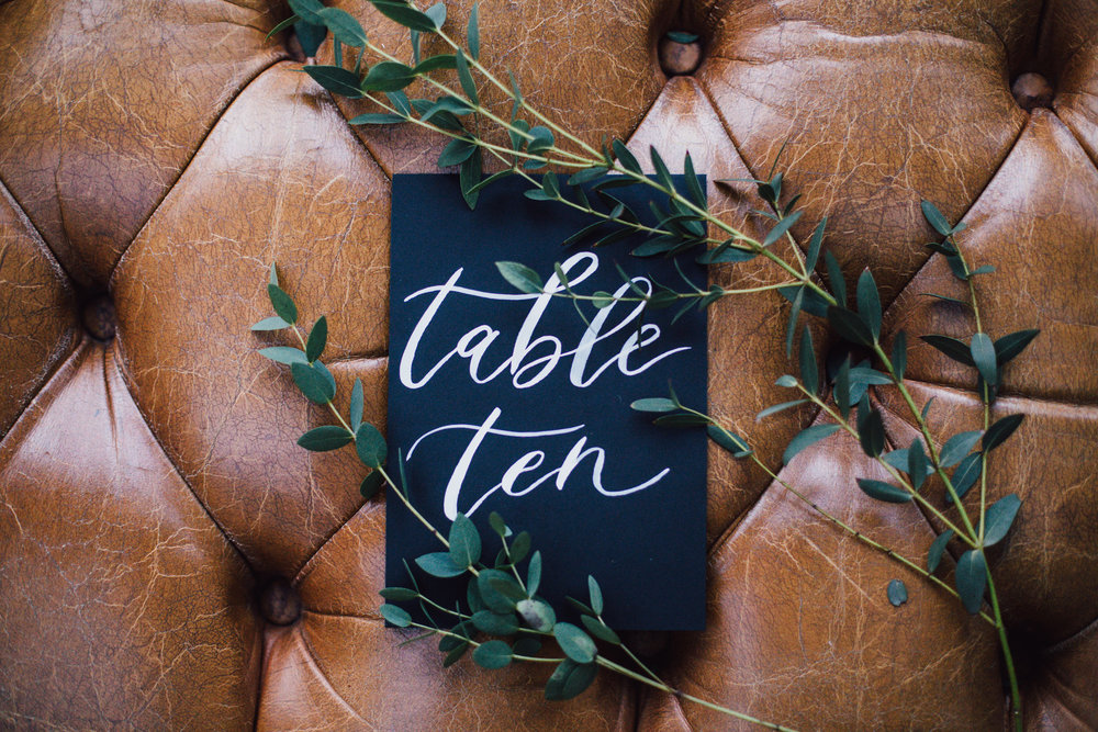 Orange Pippin Table Number