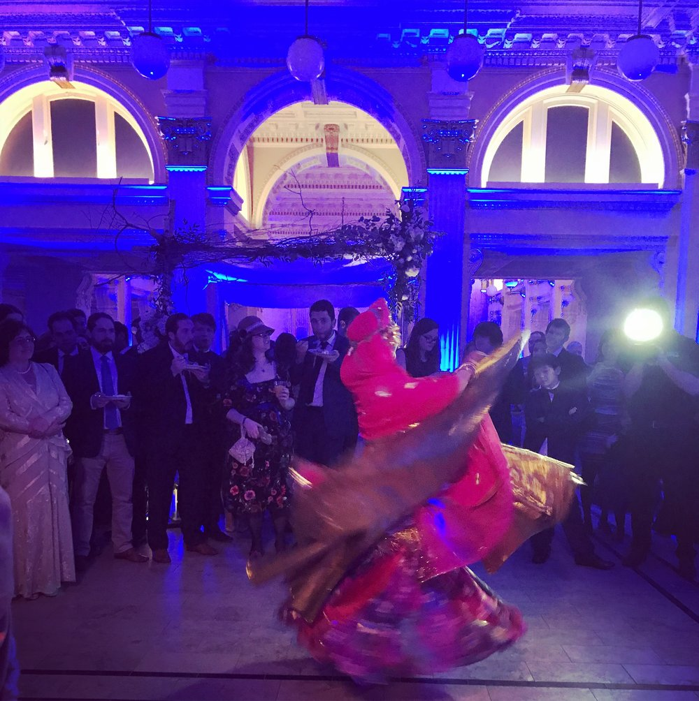 Dance performance by Melinda Melina Pavlata at a wedding at the Providence Public Library.
