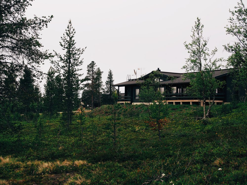 Our cabin in the woods near Saariselkä